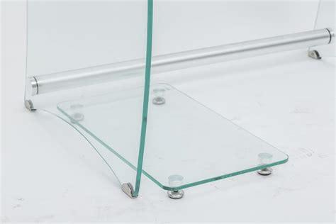 scrivania porta pc in vetro scrivania porta pc in vetro trasparente idfdesign