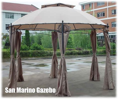 metal gazebo with curtains san marino round metal garden gazebo with curtains