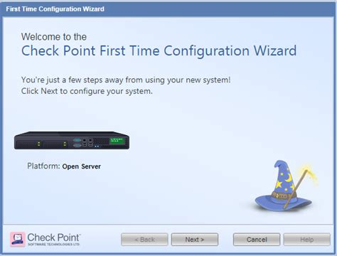 time configuration wizard  checkpoint appliances