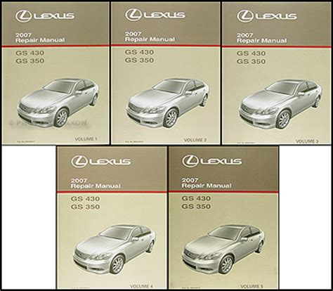 vehicle repair manual 2008 lexus gs parking system 2006 2011 lexus gs 300 350 and 430 460 body repair shop manual original