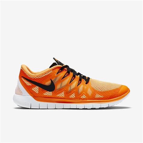 Nike Free Running 5 0 A nike mens free 5 0 running shoes orange black