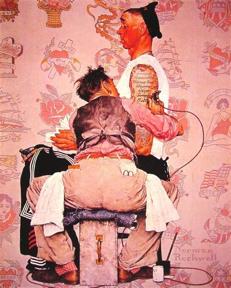norman rockwell tattoo the tattooist by norman rockwell