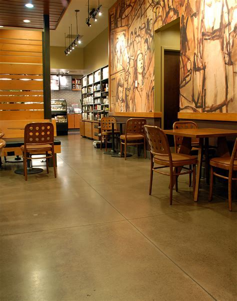Concrete Floor Polishing and Grinding ? Starbucks in Eugene