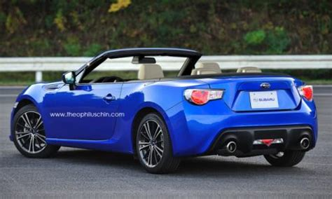 Subaru Brz Convertible Rendering Released Autoevolution