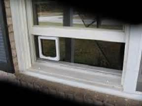 clear window mounted cat door for sash windows by