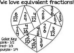 fraction coloring sheets equivalent fractions coloring page math