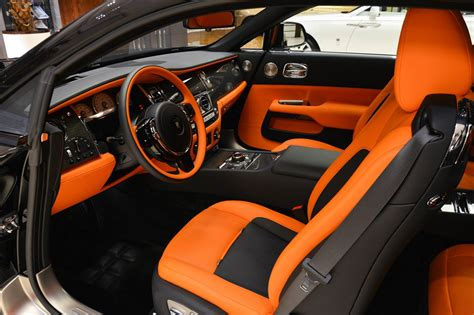 bentley wraith interior rolls royce wraith black badge has a orangy interior
