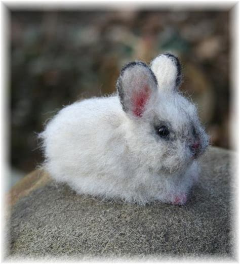 items similar  easter bunny baby rabbit mini cinder artist ooak alpaca needle felted sculpture