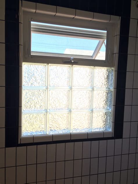 Glass block basement windows with air vents for air vent