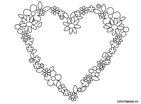 printable hearts and flowers free printable hearts and flowers coloring pages the art