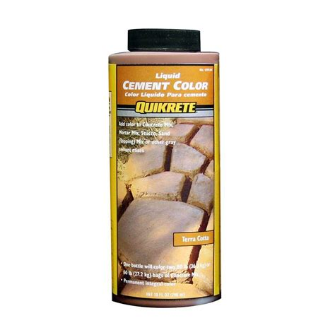quikrete 10 oz liquid cement color terra cotta 131704