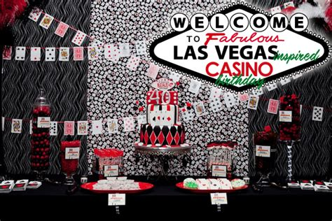 Vegas Themed Party | las vegas style casino 40th birthday party hostess with