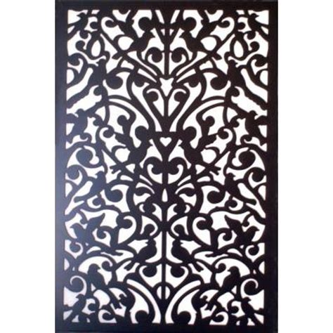 Decorative Lattice Panels acurio latticeworks 1 4 in x 32 in x 4 ft black