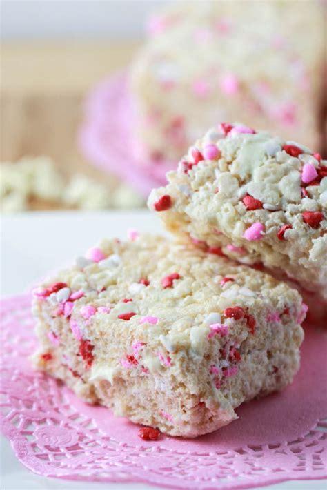 valentines day rice krispie treats white chocolate valentine s rice krispie treats