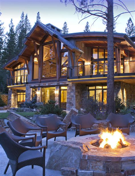 winter mountain house ideas north lake tahoe residence rustic patio san