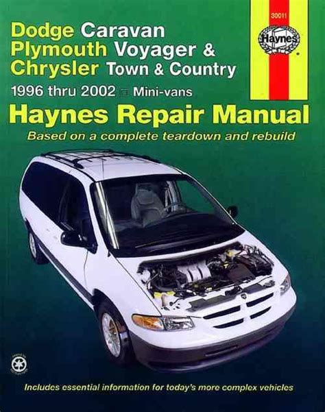 best car repair manuals 1998 chrysler town country interior lighting dodge caravan plymouth voyager chrysler town country 1996 2002 1563924692 9781563924699