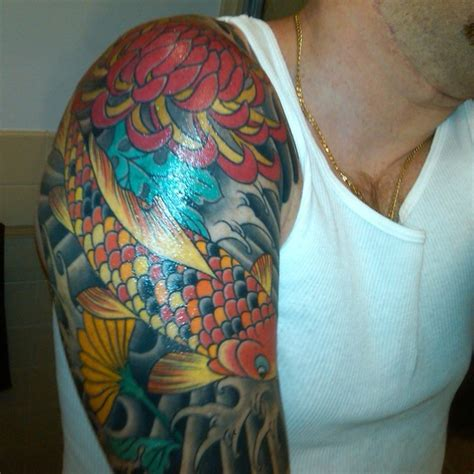 colorful tattoos for men half sleeve tattoos for designs ideas and meaning