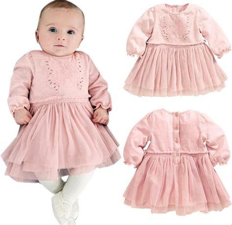 Baju Dress Bayi Perempuan Set 4in1 2 merah muda gaun pembaptisan gaun renda untuk bayi perempuan bayi pakaian baru lahir anak anak