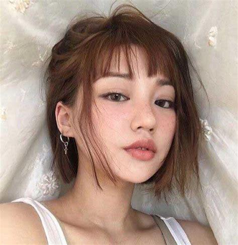 asian stars with bangs asian women s wonderful bob hair models bob hairstyles