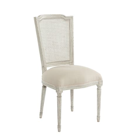 antique white ethan dining chair with slipcover by aidan gray