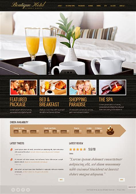 Attractive Relaxing Hotel Website Templates Entheos Hotel Website Templates