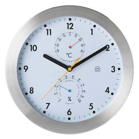 clock buy weather white wall clock with thermometer buy now at