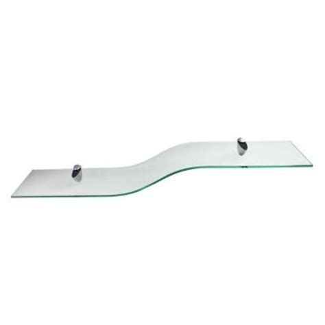 Pelican Shelf Brackets by Vincenza Curvo 8 In X 40 In Clear Glass Shelf With 2 Pelican Brackets Vcurvo840clkit The