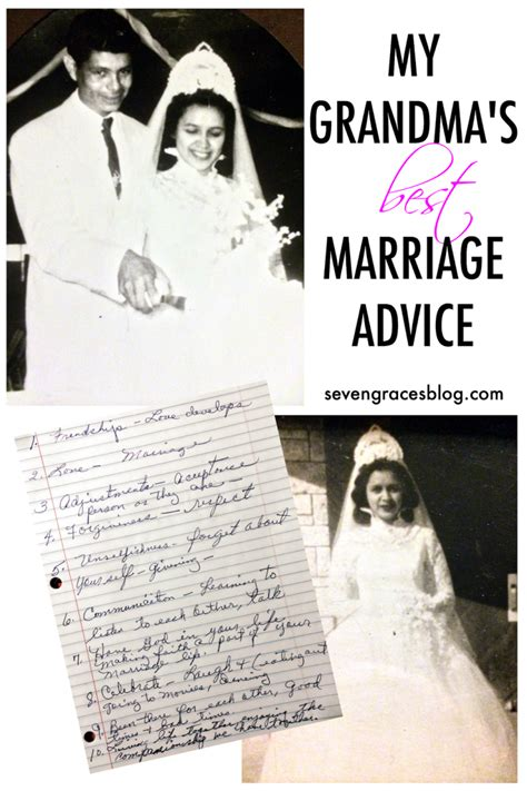 Marriage Advice by My S Best Marriage Advice Seven Graces