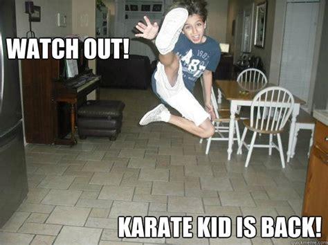 Karate Boy Meme - jumping karate kid memes quickmeme