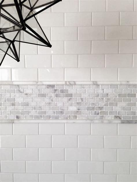 subway tile design 29 ideas to use all 4 bahtroom border tile types digsdigs