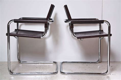 italian leather and chrome dining chairs set of eight italian leather and chrome chairs by stendig