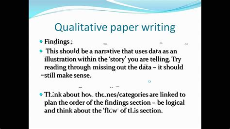 writing a qualitative research paper hayter writing qualitative research papers for