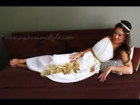 Diy greek goddess costume easy tutorial how to make youtube