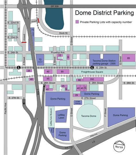 dome parking map visitor information dome district tacoma shopping
