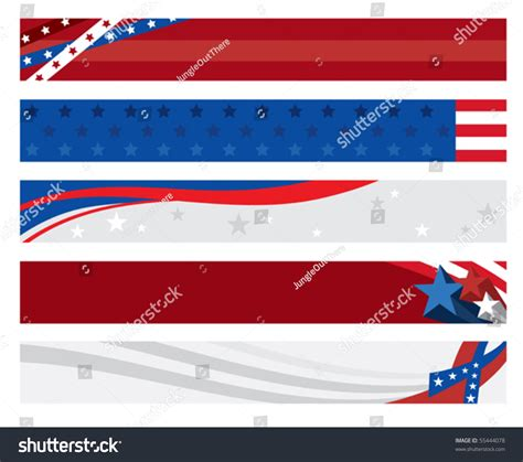 banner shutterstock vector illustration 5 american flag banners stock vector