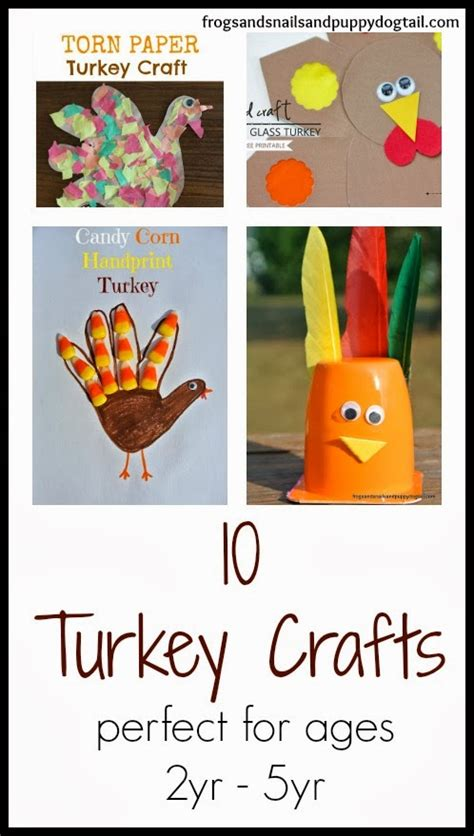 crafts for ages 10 12 10 turkey crafts for ages 2yr 5yr fspdt
