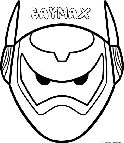 Print Mask print out mask big 6 baymax armorfree printable