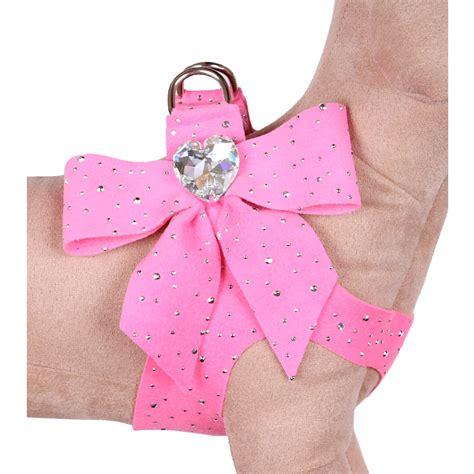 pink harness susan lanci bow swarovski harness pink stardust