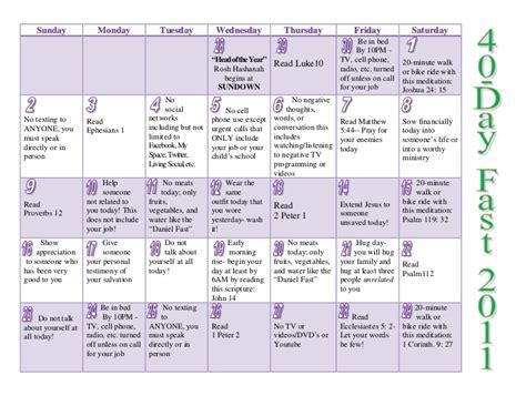 40 day calendar template 40 day fast october 2011 calendar