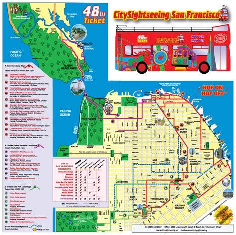 san francisco map tour san francisco map tour 28 images maps update 21051488