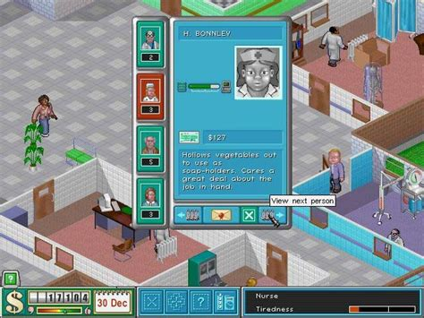 theme hospital newspaper 8 bit girl retro review theme hospital