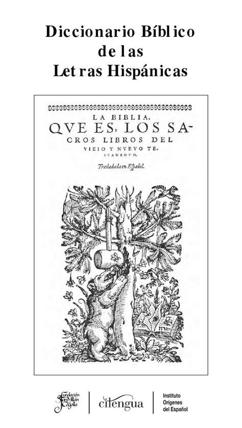 Diccionario bíblico de las letras hispánicas