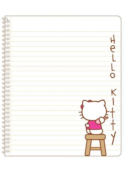 printable hello kitty notebook paper notebook paper hello kitty pinterest