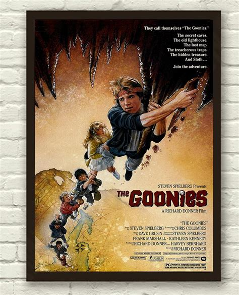 printable a4 poster the goonies movie film print poster picture a3 a4 retro