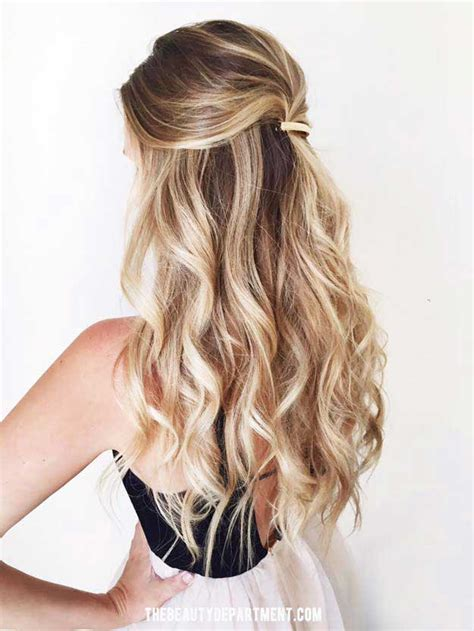 Half Up Hairstyles For Hair by Half Up Half Hairstyles Medium Length Hair Prom Www