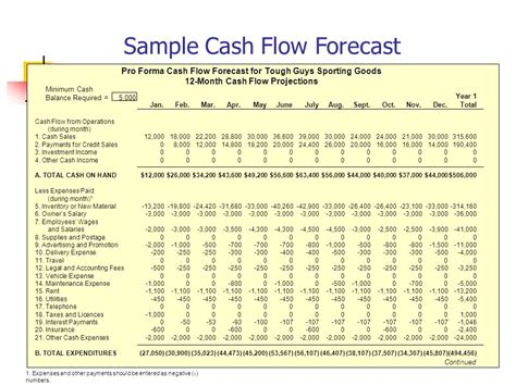 pro forma cash flow projection understanding your financial requirements ppt video