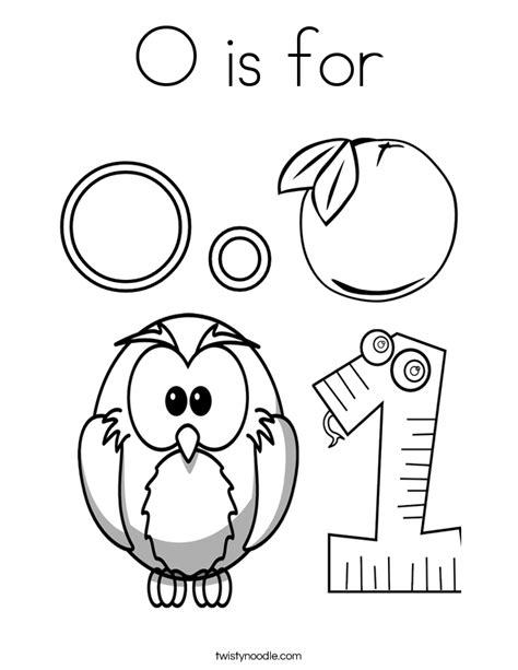 coloring pages for the letter o o is for coloring page twisty noodle