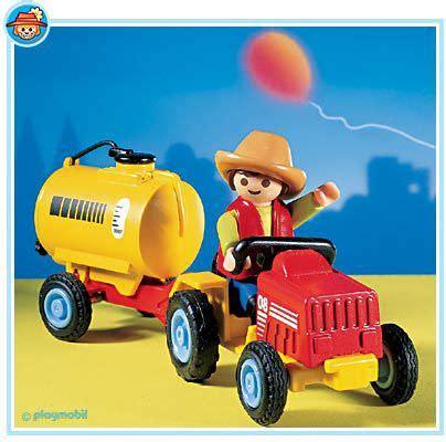 Playmobil Tractor playmobil set 3066 child s tractor klickypedia