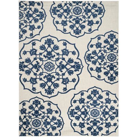 Royal Blue Outdoor Rug Safavieh Cottage Indoor Outdoor Light Gray Royal Blue 8 Ft X 11 Ft 2 In Area Rug Cot912b 8