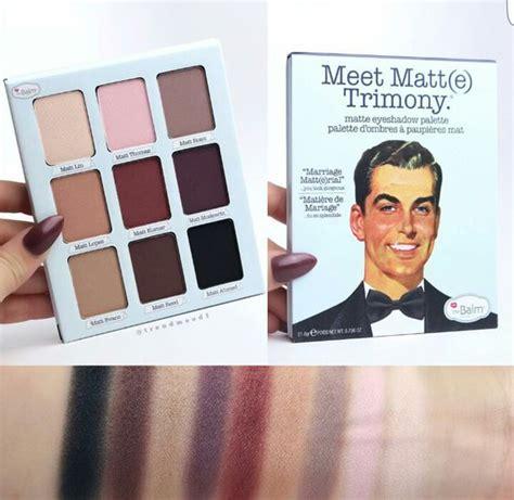 Eyeshadow The Balm the balm meet matte trimony palette makeup